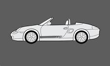 Porsche Boxster 1996-2004 (986) Side stripes Decal Sticker Set. (S, GTS, etc.)