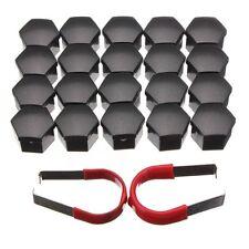 20pcs 19mm Car Plastic Caps Bolts Head Covers Nuts Alloy Wheel Matte Black AU