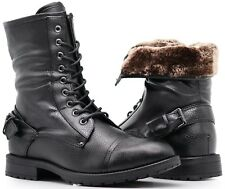 NIB MEN Winter Military Ankle Mid Calf Snow Boots Lace Up Combat Oxfords SH05
