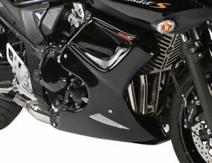 Suzuki GSF1250S  Bandit 2007-2014 Fairing Lowers Gloss Black & Silver Mesh by Po