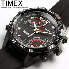 Timex Classic Herren-Armbanduhr XL IQ Fly-Back Chronograph Silikon T49865