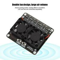 Heat Sink Double Cooling Fan with GPIO Extension Radiator for Raspberry Pi 4B/3B