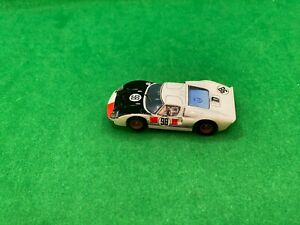 ORIGINAL TOMY AFX MEGA G + RACEMASTER, FORD GT40 DAYTONA WHITE # 98, AWESOME