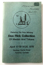 1975 Auction Cartalog, Don Flick Collection of Medals & Tokens,Torex Canada