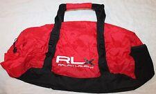 Polo Ralph Lauren RLX Mens Red Black Athletic Duffle Bag Shoulder Strap NWT $125