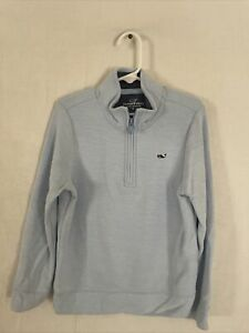 Boys Vineyard Vines Jersey 1/4 Zip Pullover  Size 6 Light Blue