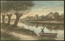 On the River Somewhere in England, perhaps - 1909 Vintage printed Postcard