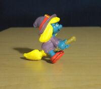 Smurfs 20198 Witch Smurfette Halloween Smurf Vintage Figure PVC 1980s Figurine