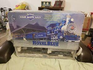 Bachmann 90016 Royal Blue G Gauge Steam Train Set Box. Train Cars Only.