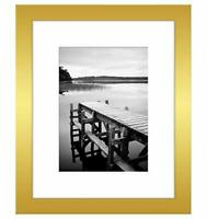 Americanflat Picture Frame in Gold Wood for Wall and Tabletop - 8x10, 11x14