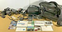 35mm Lot Minolta Maxxum 7000i Camera Flash, Extras Lenses, Case, Cokin, Tamron