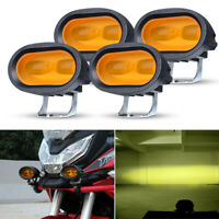 4X LED Work Light Bar Pods 20W Spot Amber Fog ATV SUV Motorcycle Driving Offroad