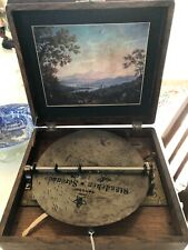 Mira Antique/Vintage Music box with 12 disc
