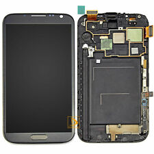 For Samsung Galaxy Note 2 N7100 LCD Touch Screen Digitizer Assembly Frame Gray