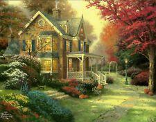 """Thomas Kinkade """"Victorian Autumn"""" Boxless Puzzle Floral Flower Garden Fall *NEW*"""