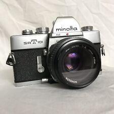 MINOLTA SRT 101 argent 35 mm appareil photo reflex Minolta 50 mm 1:2 Objectif Skylight 49 mm filtr