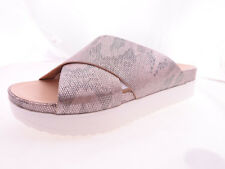 Sandals Womens Wanted Chiffon Footbed Sandal Silver 6M