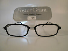 8fbfaa28d10 READING GLASSES FOSTER GRANT REPORTER - BLACK SPRING HINGE +1.25