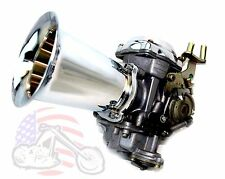"Chrome Billet Velocity Stack 4"" Long CV Carb Carburetor EFI Air Intake Harley"