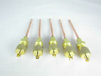 """ACCESS AND SERVICE VALVES 1/8"""" SOLDER FOR A/C REFRIGERATION LINE (QTY: 5 VALVES)"""