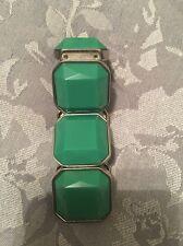 Green Turquoise Costume Jewellery Bracelet Elasticated Cuff Bangle Gem Stone