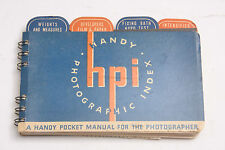 Hpi Handy Photographic Index Pocket Guide Weights Flashes - English - Used D91