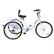 "Ridgeyard 26"" 7-Speed Adult 3-Wheel Tricycle Trike Bicycle Bike Cruise Basket"