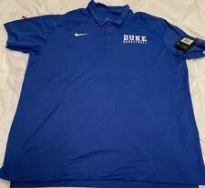 Duke Basketball Blue Devils Blue Nike Dri-Fit 2XL XXL  Polo Shirt New NWT Elite