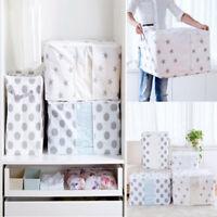 Foldable Storage Bag Clothes Blanket Quilt Closet Sweater Rectangle Box Pouches