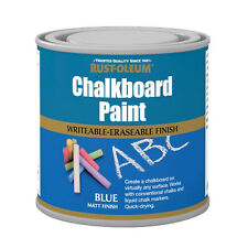 Rust-Oleum Tableau à craie Peinture Bleu Mat 750ml DURABLE séchage rapide