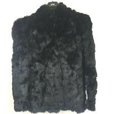 Pure Rabbit Fur Size L Women's Black Short Coat Somerset Furs pre-owned A08101