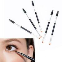 Eyebrow Brush Dual-ended Duo Brow Eyeliner Angled Cut Spoolie Makeup Brush Y4I5
