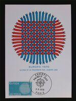 FRANKREICH MK 1970 EUROPA CEPT MAXIMUMKARTE CARTE MAXIMUM CARD MC CM c6921