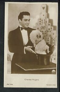 Magic Magician Illusionist Charles Rogers Poodle in a Hat Post Card