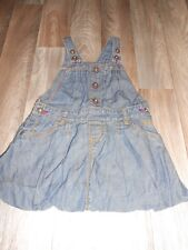 USED EXCELLENT CONDITION TED BAKER DRESS DENIM EFFECT AGE 2-3 100% COTTON