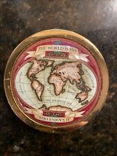 """Halcyon Days Enamels Paperweight """"The World Is His, Who Enjoys It�"""