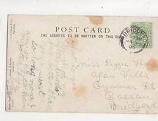 Miss Lizzie Thomas Afan Villa Cymmer Road Caerau Bridgend 1909 452b