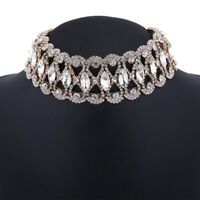 Prom Choker Bridal Bling Necklace Party Diamante Crystal Rhinestone Jewelry HOT
