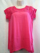 Women's DKNY Pink Top See Through Lace Size Small Bust 38 Lingth 25""