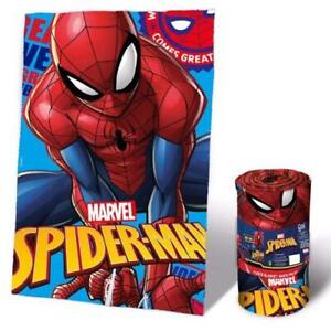 Spiderman Fleece - Blanket (150 x 100cm) Cover Blanket for Kids Kid's Room