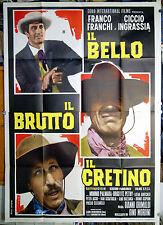 manifesto 4F film IL BELLO IL BRUTTO IL CRETINO Franco Franchi Ciccio Ingrassia