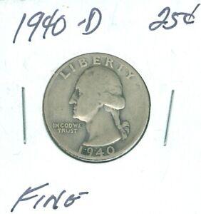 1936-D Washington Quarter About F BU QUALITY✔️