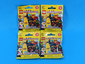 4x Lego 71013 Series 16 CMF Blind Bag Collectible Minifigures Sealed 2016