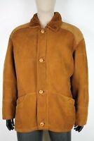 SHEARLING MONTONE SHEEPSKIN Cappotto Giubbotto Jacket Tg 54/58 Uomo Man C