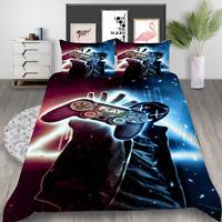 Milsleep Gamepad Bedding Set for Boys Gamer Print Bed Quilt Cover
