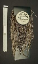 Metz #2 Barred Variant Grizzly Rooster Saddle Fly Tying Feathers Lot-SF 75