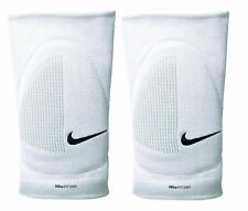 Coppia Ginocchiere Volley Pallavolo NIKE Fit Dry Skinny Bianco Imbottite Elastic