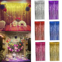 5PCS Shimmer Foil Glitter Tinsel Metallic Backdrop Curtain Window Wedding Party