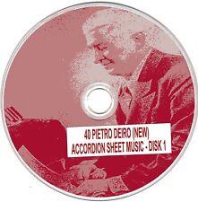 40+ Pietro Deiro (NEW) Accordion Sheet Music - CD#1 of 5