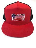 Thrasher Magazine MESH Snapback Skateboard Hat BLACK/RED